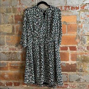 BR Green Leopard Dress